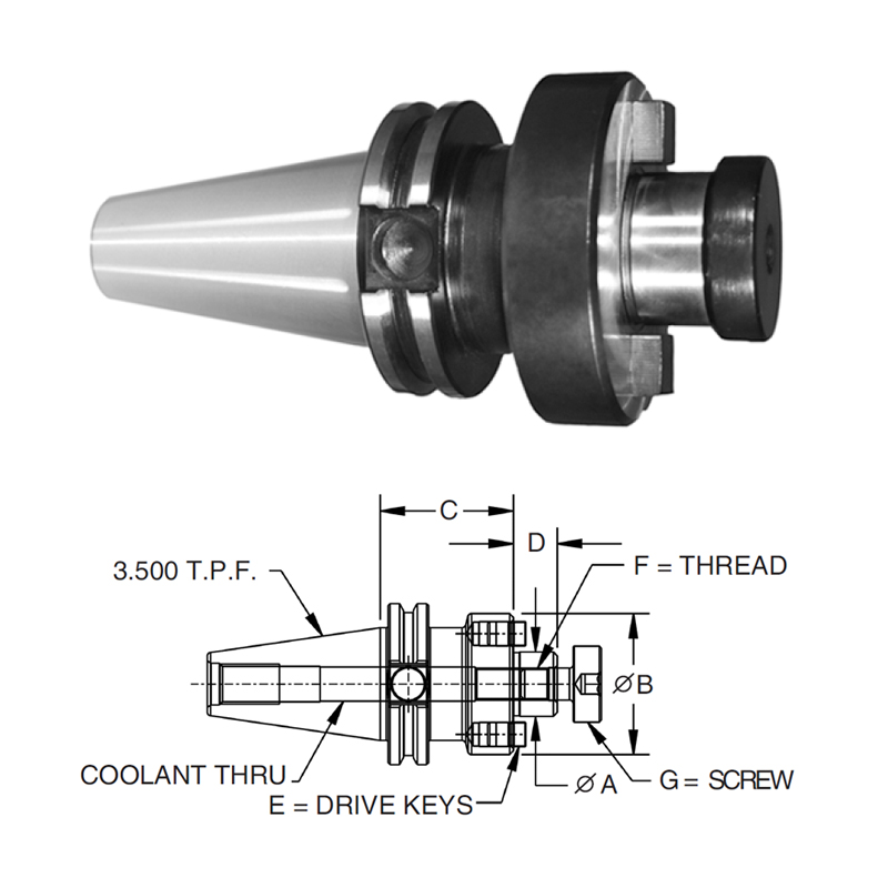 dual-contact-cat-40-shell-mill-adapters