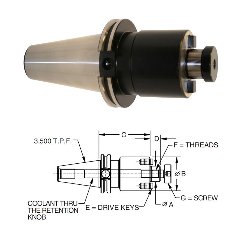 cat-50-shell-mill-holders