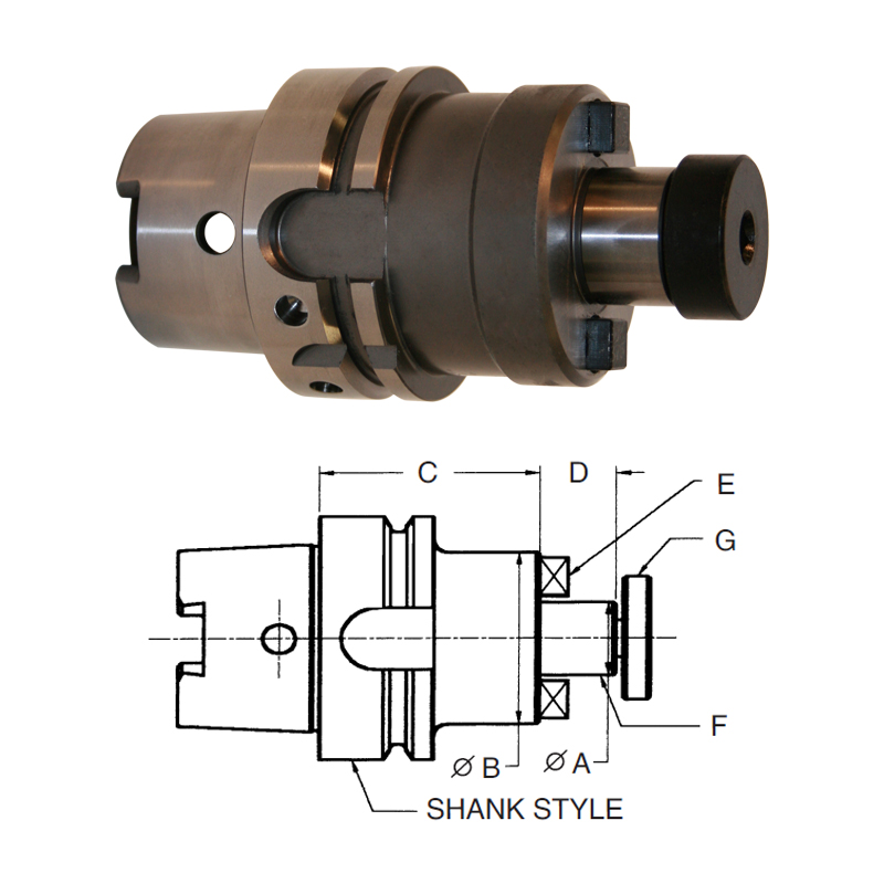 hsk-100a-shell-mill-holders